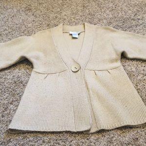 Super cute EUC Khaki cardigan sweater